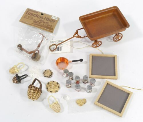 Mixed Lot Rustic Miniatures - Darice Timeless Minis - Dollhouse Miniatures