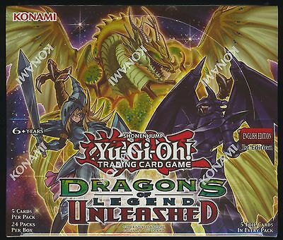 Yu-Gi-Oh Dragons of Legend Unleashed 1st Ed English SEALED Booster Box Yugioh
