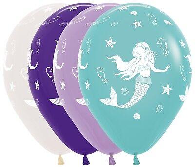 Mermaid Birthday Baby Shower Under the sea Theme Helium or Air 12