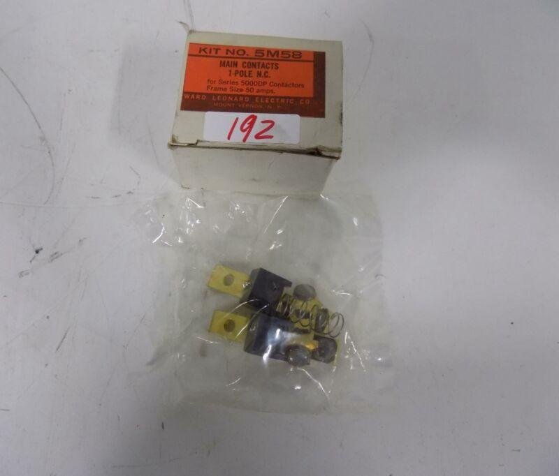 WARD LEONARD ELECTRIC 1 POLE MAIN CONTACTS 5M58 NIB