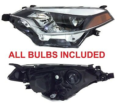 DRIVER LEFT SIDE HEADLIGHT FOR 2014 - 2016 TOYOTA COROLLA BULB SOCKETS INCLUDED