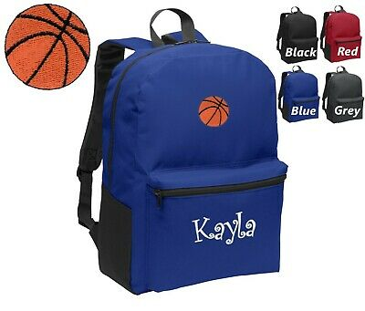 Kids Embroidered Backpacks (Personalized Kids Backpack Embroidered Basketball Monogrammed with)