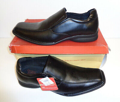 Mens Black Shoes Leather Lined Slip On Casual Formal Office New UK Sizes 7-12