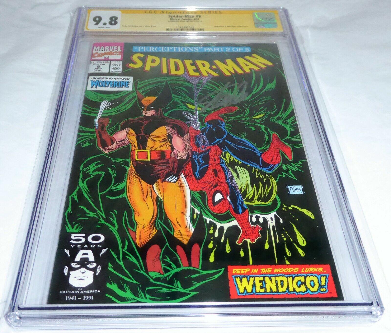 Spider-Man #9 CGC SS Signature Autograph STAN LEE Wolverine Wendigo Appearance