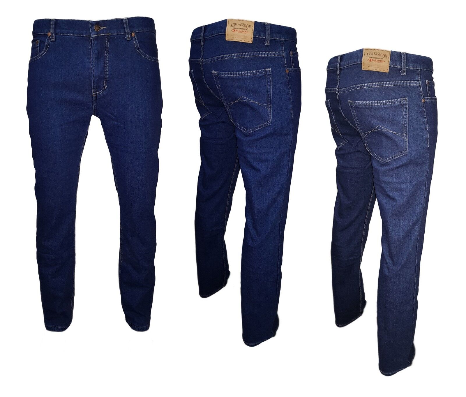 Jeans Uomo Regular Fit Autunno Inverno Primavera Estate tg. 46/60 3 COLORI