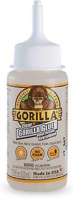 Gorilla Clear Glue 3.75 ounce Bottle Crystal Clear Water Resistant (Pack of 1)