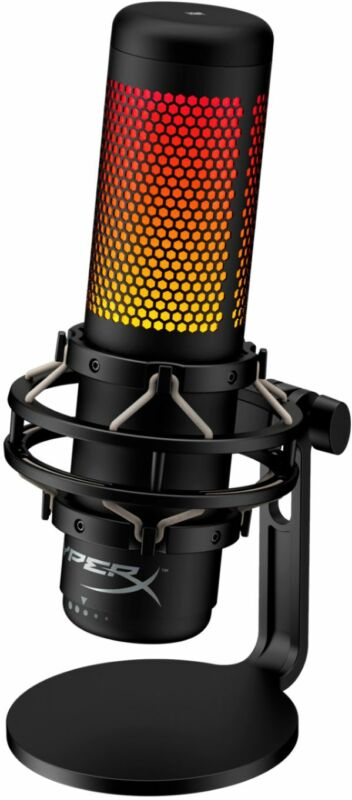 HyperX - QuadCast S - RGB Wired Multi-Pattern Electret Condenser Microphone