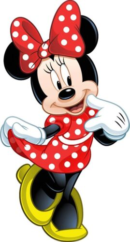 """Minnie Mouse Iron On Transfer 4"""" x 7"""" for LIGHT Colored Fabric"""