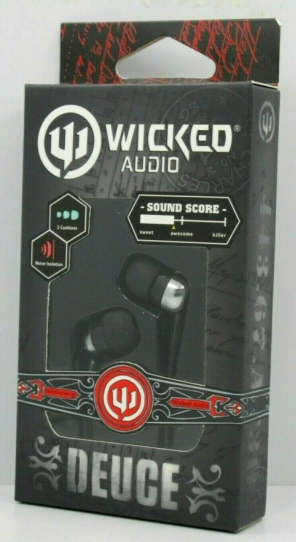 Wicked Audio Deuce In Ear Headphones earbud noise isolation
