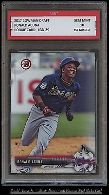 RONALD ACUNA JR 2017 / 17 BOWMAN DRAFT Topps 1ST GRADED 10 ROOKIE CARD RC BRAVES