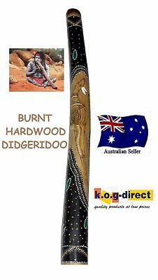 DIDGERIDOO BURNT HARDWOOD 90CM ABORIGINAL STYLE BEAUTIFULLY HAND PAINTED NEW GRN