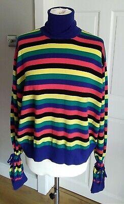 JW Anderson Uniqlo bright multi coloured Striped Jumper M