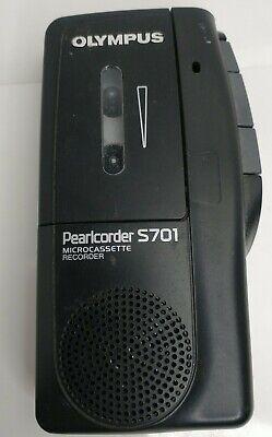 Vintage Olympus Pearlcorder S701 Handheld Micro Cassette Voice Recorder