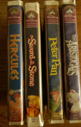 Lot Or 4 Vhs Disney Materpeice Collection Movies.Aristocats,PeterPan,The Sword . - $10.99