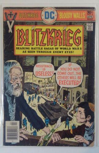 BLITZKRIEG #2 - DC Comics (1976 Series) - WWII - Cover by JOE KUBERT - GD