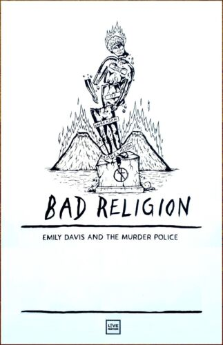 BAD RELIGION Age Of Unreason Tour 2019 Ltd Ed RARE Poster +BONUS Punk Poster !