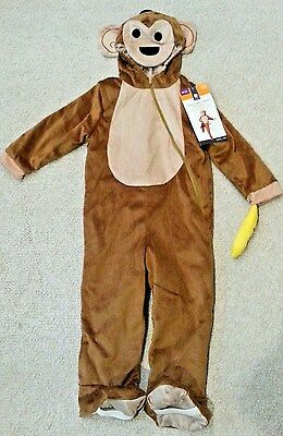 Toddler Monkey Costume Plush Halloween 12-24 Months](12-24 Month Halloween Costumes)