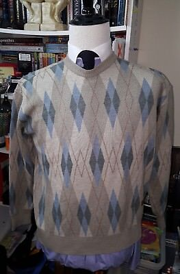 Paul Shark Yachting 100% Wool Sweater Men's Size M Made In Italy