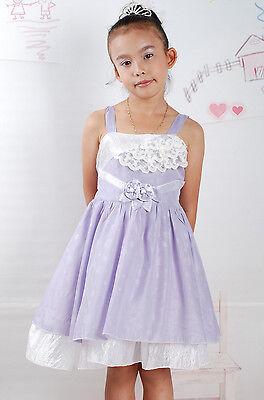 Blumen-mädchen-kleider In Pink (Neu Blumenmädchen Party Schönheitswettbewerb Kleid in Lachsrosa Pink, Violett)