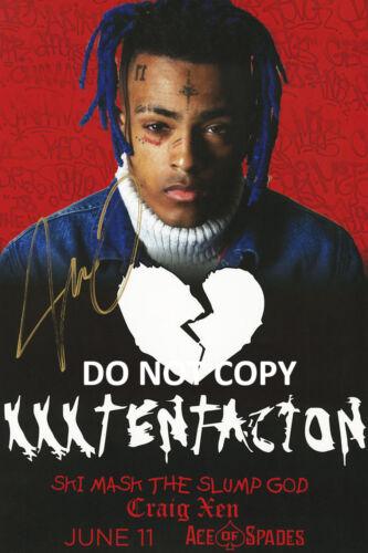 XXXtentacion rapper reprint signed 12x18 poster photo RP