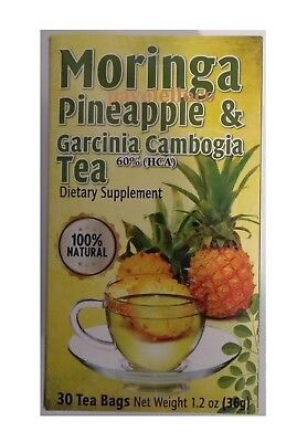 Moringa Tea 30   60 Bags  Pineapple   Garcinia Cambogia  Soursop Te De Guanabana