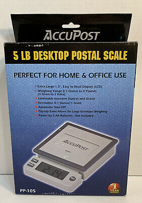 Accupost Usps Pp-105 New Desktop Postal Scale -weighs 0.1 Oz - 5 Lbs -us Shipper