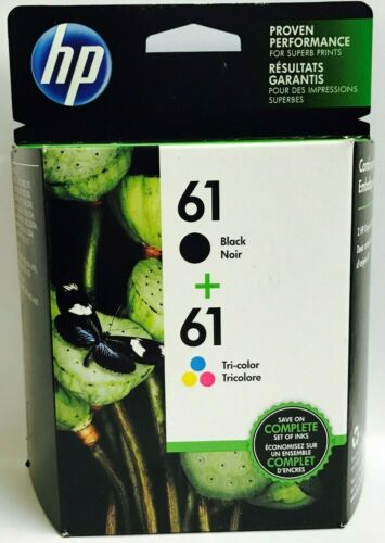 HP 61 Black Color New Genuine Ink Cartridges NB Deskjet 3054 3511 2547 Envy 5539
