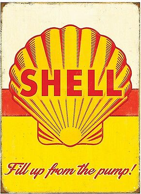 Shell Petrol - Vintage and Retro Sign- official licensed product Metal Sign