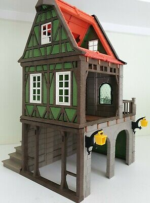 Playmobil Medieval Green Old Style Castle House - Knight/Victorian /Farm