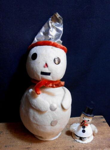 "Rare 10"" Cotton Batten Snowman NODDER - Occupied Japan"