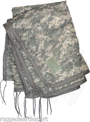 US Military Wet Weather Poncho Liner Woobie Blanket ACU Army DIGITAL CAMO GRADE3