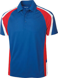 Mens sport tek tricolor micropique sport wick polo shirt for Mens xs golf shirts
