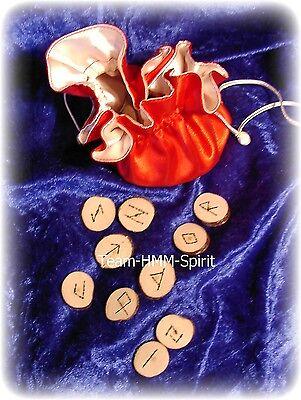 Runen Orakle  25 Stück Deuten& Wahrsagen mit Runen aus Holz Handarbeit