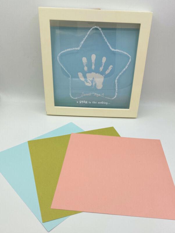 NEW Crayola Handprint Frame Hallmark 3 Backgrounds Paint 2008 VINTAGE