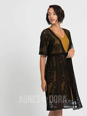 Agnes & Dora™ Vintage Lace Duster Black