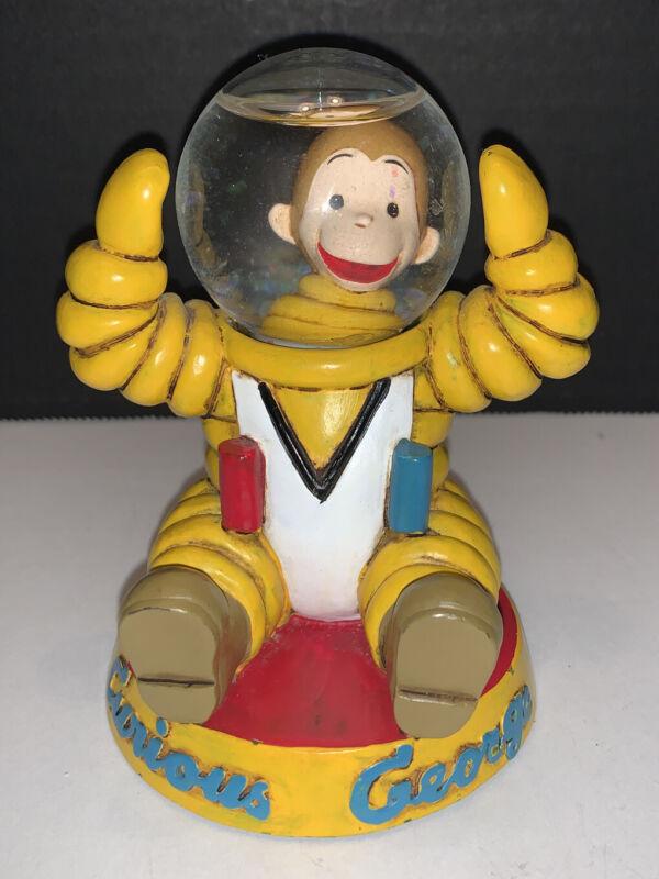 Vintage Curious George Astronaut Snow Globe By Vandor