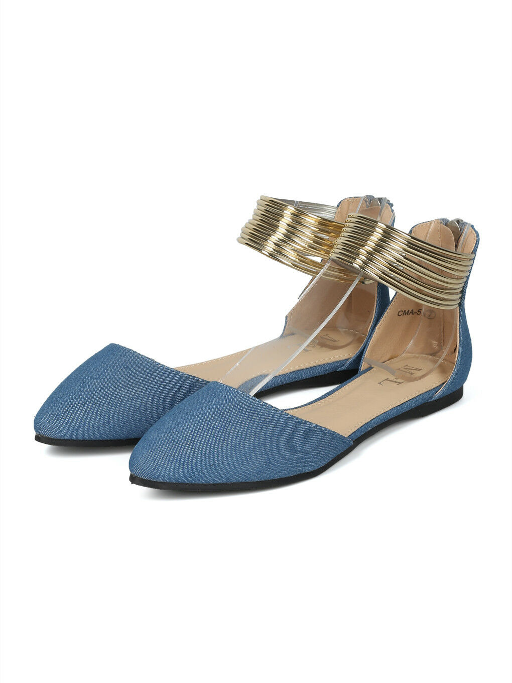 New Women Pointy Toe d'Orsay Strappy Ankle Cuff Flat - 17885 By ML