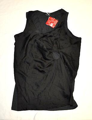 Women's PUMA x HUSSEIN CHALAYAN UM Twist Drape Top Shirt Black size XL $88