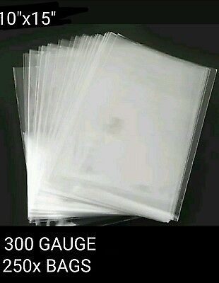 250x LDPE CLEAR POLY BAGS 10