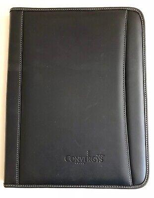 Leeds Black Portfolio Planner Organizer. New. Convergys. Genuine Leather.