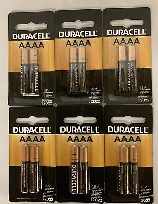 (12) Duracell AAAA Batteries 1.5V New & Sealed Best Before: