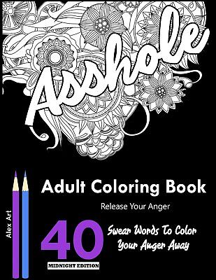 +NEW+ Swear Word Adult Colouring Books 40 Swear Words to Color and RELAX