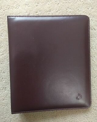 Franklin Covey Burgundy Open Planner Binder 71.25 Rings Faux Leather