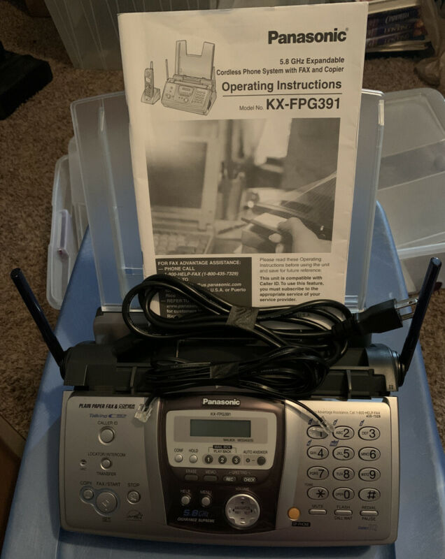 Panasonic KX-FPG391 Answering Machine. With Manual And Cables.