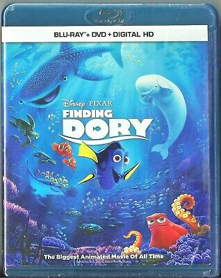 Disney Pixar Finding Dory Blu-ray + DVD + Digital HD Movie BRAND NEW