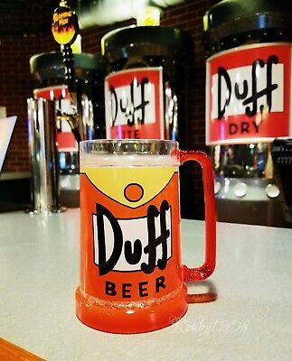 New Universal Studios The Simpsons Duff Beer Mug Bar Cup  Crushed Ice  16Oz