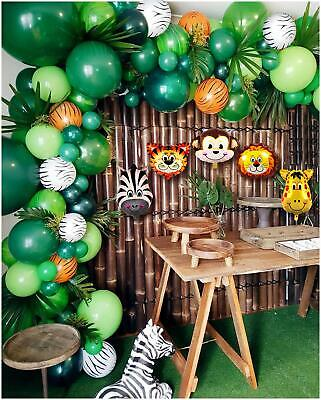 Baby Shower Safari Nino Decoracion.Details About Baby Shower 102 Balloons Decorations For Boy Jungle Safari Animals Party Theme