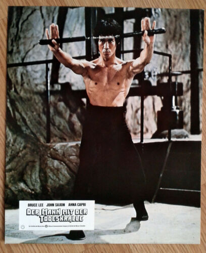 ENTER THE DRAGON German lobby card#5 first release! BRUCE LEE Martial Arts 1973