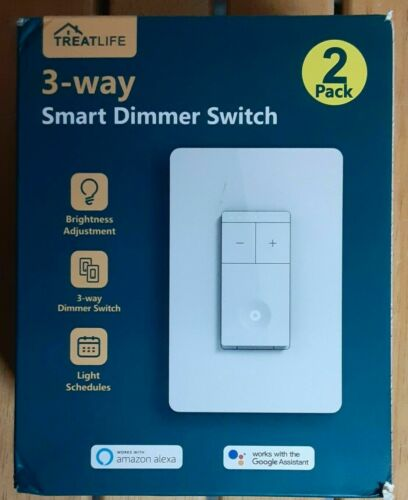 Treat Life 3 Way Smart Dimmer Switch 2 Pack