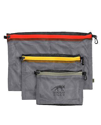 Tasmanian Tiger Mesh Pocket Set Zusatz EDC Organizer Netz Taschen Schwarz
